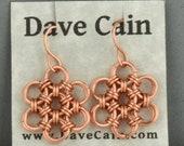 CLOSEOUT Hana Gusari Snowflake Earrings - Bright Copper