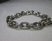 1.9 ounce Sterling Bracelet - Very heavy 53 Grams Vintage Stamped sterling Loop Bracelet