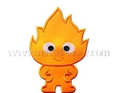 ON SALE Incredible Baby Fire Applique Design