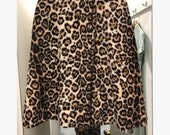 Stunning 1960s faux fur animal print leopard print cape with armholes