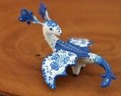 Gzhel Dragon Figurine Sculpture Gift Fantasy