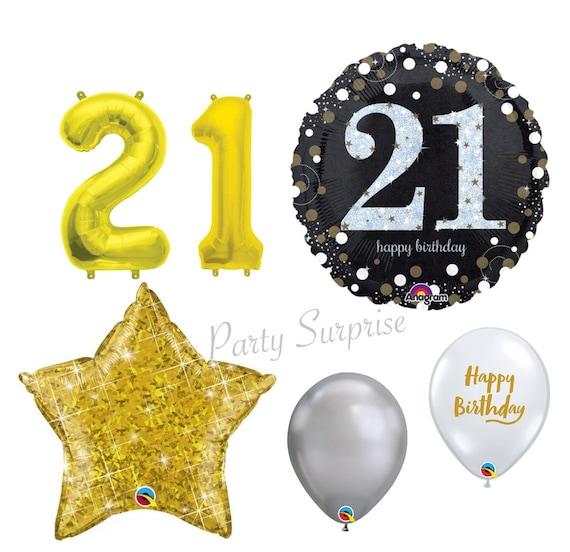 21st Birthday Balloon Package 21st Birthday Party Balloon Black