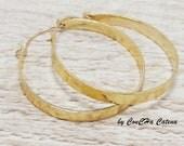 große Creolen, 4,5cm, goldfarben, Goldfilled Haken, hoops, big, boho style, goldene Ohrhänger groß, handmade jewelry, gold hoops,