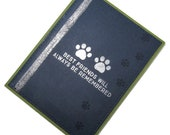 Handmade Pet Sympathy Card - Best Friends Will Always Be Remembered - Pet Bereavement Card - Pet Loss Card - Homemade Card - Heart Card