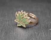 Lotus ring - handmade