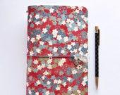 "Japanese cotton fabric Traveler's notebook Floral - ""La Copertina"""