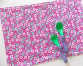 Kids Placemat - Purple Flowers  - School Placemat - Montessori accessories - Toddler Feeding Set - Kids Cloth Napkin and Placemat - lunchbox