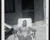 Vintage Photo Woman Wearing Bikini Laying in the Sun 1960's, Original Found Photo, Vernacular Photography