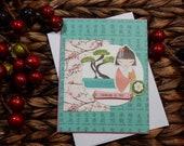 Thinking of You Greeting Card / Handmade Greeting Card / Blank Inside Greeting Card / Stamped Greeting Card / Greeting Card