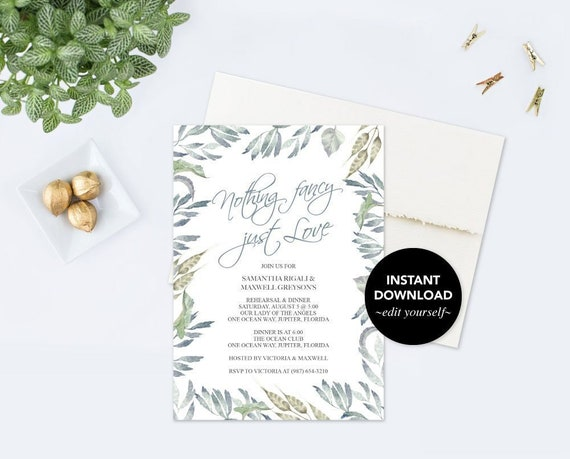 rehearsal dinner dinner party invitation template pdf foliage