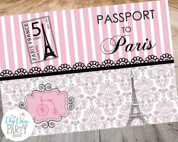 Debut Invitations Sample Paris Passport Il 570xn