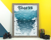 Catskill Mountains 3500 Winter Print • Catskill High Peaks, NY Poster • New York Mountain Climbing • Snowy Hiking Decor • Wall Art Graphic