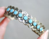 Bell Trading Company Nickel Silver Turquoise Cuff Bracelet