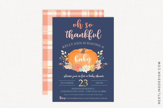 Fall baby shower invitation thanksgiving baby shower invitation il570xn filmwisefo