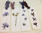 Dried Flower Bookmarks Delicate Pressed Wildflowers Wisteria Lavender Chicory Red Maple Helicopters Book Lover Accessory Keepsake Unisex