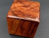 "Curly Hawaiian Koa  Pet or Infant Small Cremation Urn  4 3/4"" x 4 1/4"" x 4""  Custom Handmade Urns Ashes Memorial Keepsake Urn SK-070618-A"
