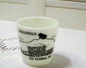 Vintage Beallsville Pennsylvania Souvenir Mug Bicentennial Travel Vacation Memento Black White Milk Glass Pyrex PanchosPorch