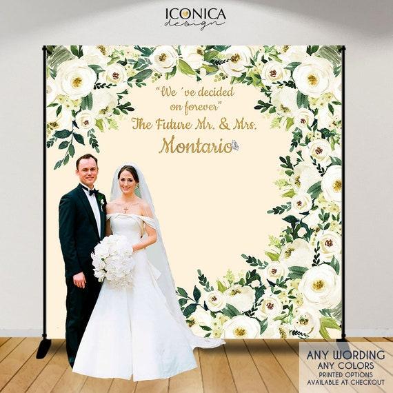 Wedding Backdrop Beige And Greenery Wedding Decor Engagement Part