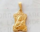 Medal - Saint Thérèse 16x25mm - 18K Gold Vermeil