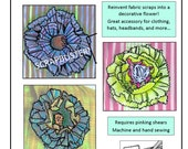 PDF Judy Flower Upcycle Sewing Pattern, Upcycling fabric scraps into beautiful flowers! Sewing Pattern,Recycle,Gift,eco-friendly,Repurpose