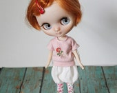 Middie Blythe Doll Outfit / Top Pants Socks In Set / OOAK Doll Clothes