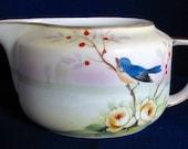 Vintage Creamer Meito China Nagoya Seito Sho Bluebird Branch