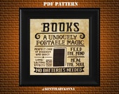 Books Cross Stitch Pattern PDF - reading books quotes cross stitch - library cross stitch - geeky, nerdy counted x stitch chart - KbK-110