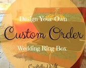 Wedding Ring Box - Design Your Own Double Ring Box - Two Ring Wedding RingBox