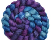 Hand painted roving - Silk / BFL wool 25/75% spinning fiber - 4.2 ounces - Space for Play 1