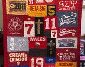 Custom Puzzle T Shirt Quilt for EmilySue - Final Payment