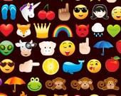 Smiley Emoticons Timeless Treasures  Computer Handy 0,5 m reine Baumwolle Stoff USA Designerstoff Kinder Dekostoff