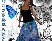 Sarouel  stretch , sarouel long  , boho   ' Blue World ...'