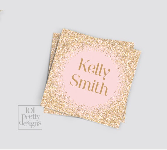 Gold glitter business card makeup business card pink printable il570xn colourmoves