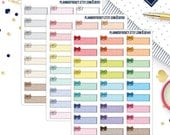 Doodle Bow Polka Dot 1/3 Box Planner Stickers! Choose your Sheet!