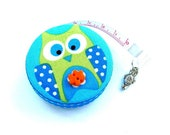 Measuring Tape Lime and Blue Owl Retractable Tape Measure