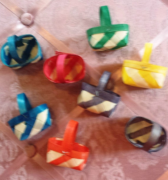 Mini Baskets Party Favor Size Set Of 8 Assorted Colors By Dazzle