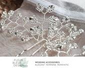 Strass Haarschmuck | Haarnadeln mit Perlen | Schmuck Hochzeit | Hochzeit Fascinator