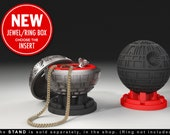 Death Star Ring Box - proposal ring box, engagement ring box, star wars, ring case, wedding, marriage, matrimony, darth vader, geek box, sci