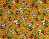 50% OFF CLEARANCE SALE Chipmunk Fabric from Fabri-Quilt's Krazy Kritter Collection