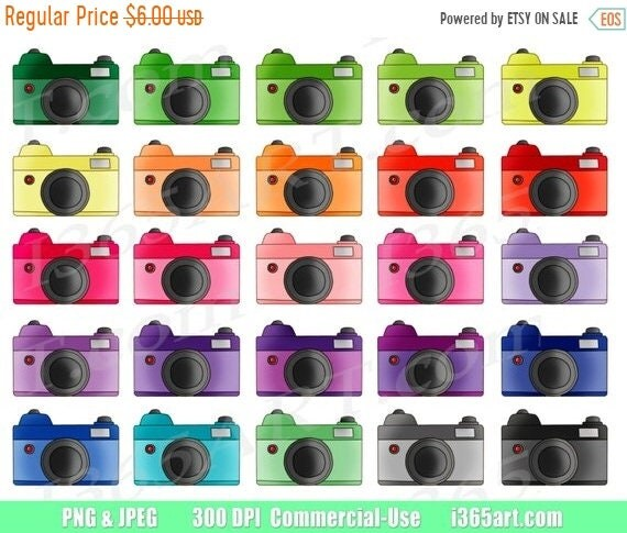 50 OFF Camera Clipart Photography Clip Art Retro Vintage Cameras