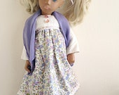 NEW Sasha Doll Dress 'Serenely in Summer' / doll dress and scarf outfit set by VERITY HOPE