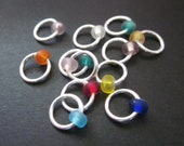 NEW! ~ Gumballs ~ Non-Snag Stitch Markers ~ Choose Your Size