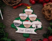 6 Family Tree DESIGN YOUR OWN Personalized Ornament