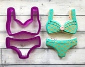 2 Piece Bikini  or Bra and Panties or Underwear Cookie Cutter or Fondant Cutter and Clay Cutter