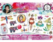 Mixed Media -Studio Light- Art by Marlene- Die cut block 2 - a brand new line of mounted rubber stamps, stencils, collage papers, die cuts