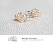 Hochzeit Ohrringe | Silber Ohrringe | Silber Perlen Ohrringe | Braut Ohrringe Perlen