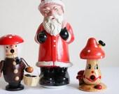 Vintage Räuchermännchen Weihnachtsdeko Holz Pilz