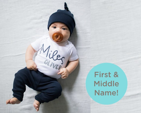 custom name baby boy coming home outfit personalized first middle