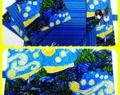 Starry Night Children's Roll Up Placemat Set