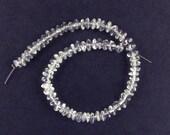 Natural Rock Crystal Quartz Smooth Rondelle Beads 2.5x4.5mm Destash Sale